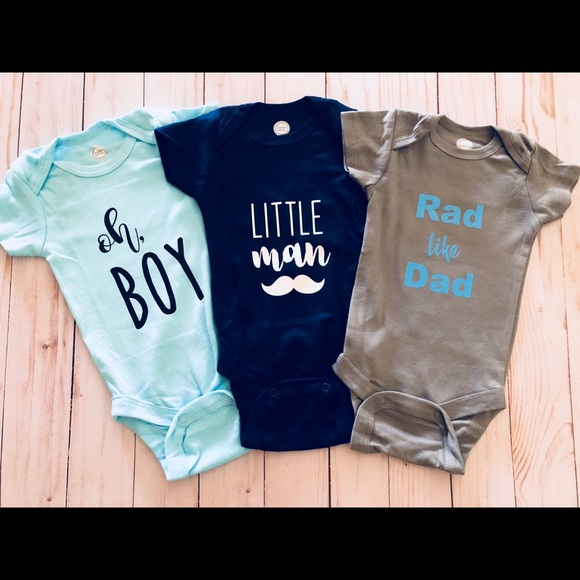 Personalized Onesies Set Of 3 Boutique